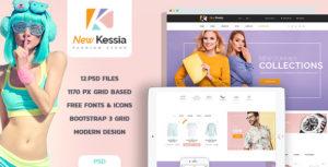 New Kessia - Fashion Shop PSD Template