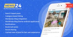 News 24 - Wordpress Blogs & News Android app - Google ads integrated   Analytics   Notifications
