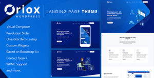 Oriox - WordPress Landing Page