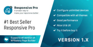 Responsive PRO for WPBakery Page Builder (formerly Visual Composer)