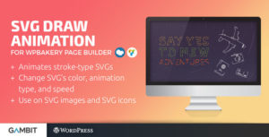 SVG Draw Animation for WPBakery Page Builder (formerly Visual Composer)
