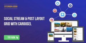 Social Stream & Post Grid Layout With Carousel for SiteOrigin Page Builder