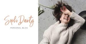 Sophi Dainty - Blog PSD Template