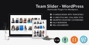 Team Slider - Team Member Showcase Short code - For WordPress