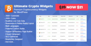 Ultimate Crypto Widgets - Premium Cryptocurrency Widgets for WordPress