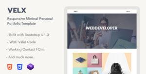 Velx - Responsive Personal Portfolio Template