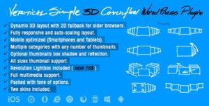 Vertical Simple 3D Coverflow Wordpress Plugin