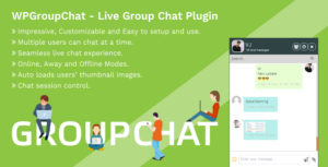 WPGroupChat - Live Group Chat WordPress Plugin