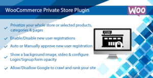 WooCommerce Private Store Plugin, Shop for Registered Members Only