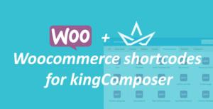WooCommerce shortcodes for kingComposer