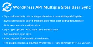 WordPress API Multiple Sites User Sync