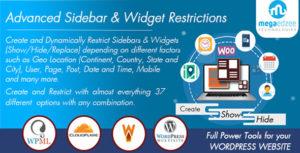 WordPress Sidebar and Widgets Visibility | Create Sidebar, Hide Sidebar and Hide Widgets