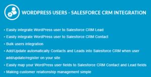 WordPress Users - Salesforce CRM Integration