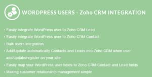 WordPress Users - Zoho CRM Integration