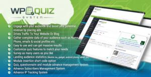 Wordpress Quiz System Plugin