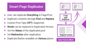 Wordpress page duplicator - Duplicate contents through find and replace