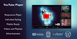 YouTube-Player Interface for Videos and Playlists