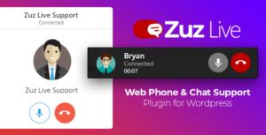 Zuz Live Web Phone Call & Chat Support Plugin for Wordpress