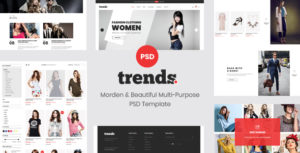 trends - Multipurpose Ecommerce PSD Template