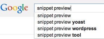 aperçu extrait recherche google