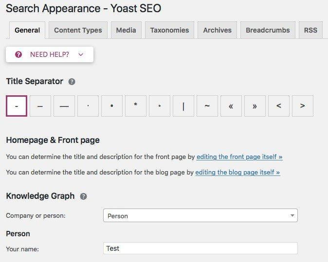 apparence de recherche yoast seo