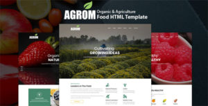 Agrom - Organic & Agriculture Food HTML Template