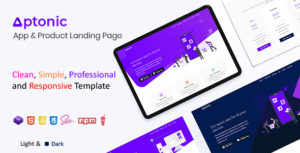 Aptonic - App Landing Page