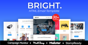 BRIGHT - Multipurpose Responsive Agency Email Template