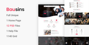 Bausins - Business Website PSD Template