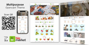 Bigmarket - Multipurpose Responsive  Fashion And Grocery Opencart 3.X Theme