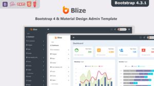 Blize - Bootstrap 4 Material Design Admin Dashboard Template