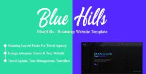 BlueHills - Bootstrap Website Template