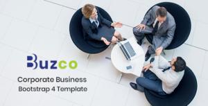 Buzco - Corporate Business Bootstrap 4 Template