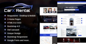 CarX Rental - One Page Car Rental Html Template