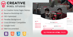 Creative Pixel Studio One Page HTML Template