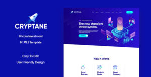 Cryptane - Bitcoin and Cryptocurrency HTML Landing Page