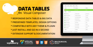 Data Tables Addon for WPBakery Page Builder (formerly Visual Composer)