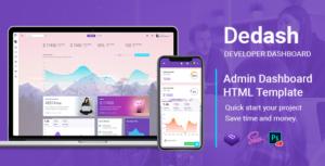 Dedash - Multipurpose Developer Dashboard HTML Template