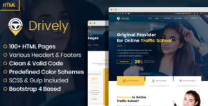 Drively - online driving school HTML template