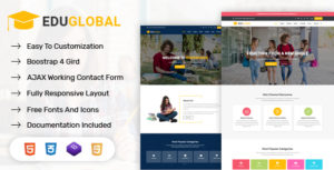 Eduglobal - LMS Education & Courses HTML Template