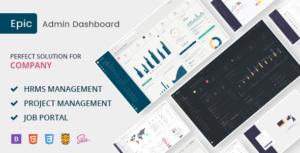 Epic - HR Job & Project Management Admin Template
