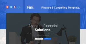Fini — Finance & Consulting One Page Template
