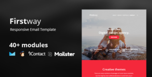 Firstway – Business Responsive Email Template 45+ Modules - StampReady Builder+Mailster+ Mailchimp