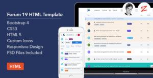 Forum19 HTML Template