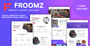 Froomz - Digital Marketing Agency Responsive HTML5 Template