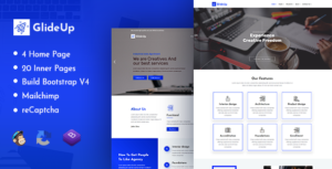 GlideUp: Corporate Business Agency Bootstrap 4 Template