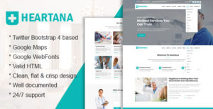 Heartana - Health and Medical HTML Template