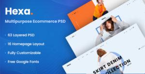 Hexa – Multipurpose Ecommerce PSD Template