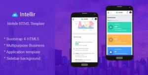 Intellir - Bootstrap 4x Mobile HTML Template
