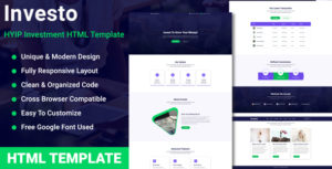 Investo - HYIP Investment Website Template